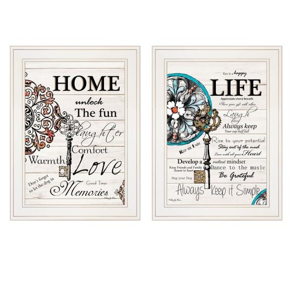 Life Home  by Robin-Lee Vieira Framed Wall Art