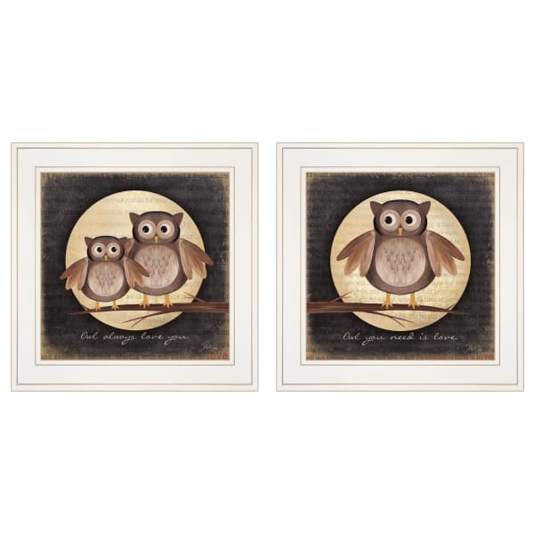 Owl Always Love & Need You 2 Piece Vignette by Marla Rae White Frame