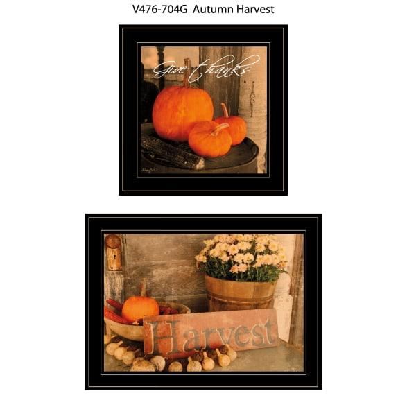 Autumn Harvest 2 Piece Vignette by Anthony Smith Black Frame