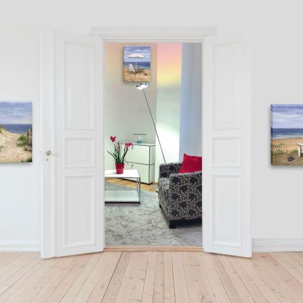 Sand Beach Designs 3 Piece Vignette by Opportunities Gallery Wrap Canvas