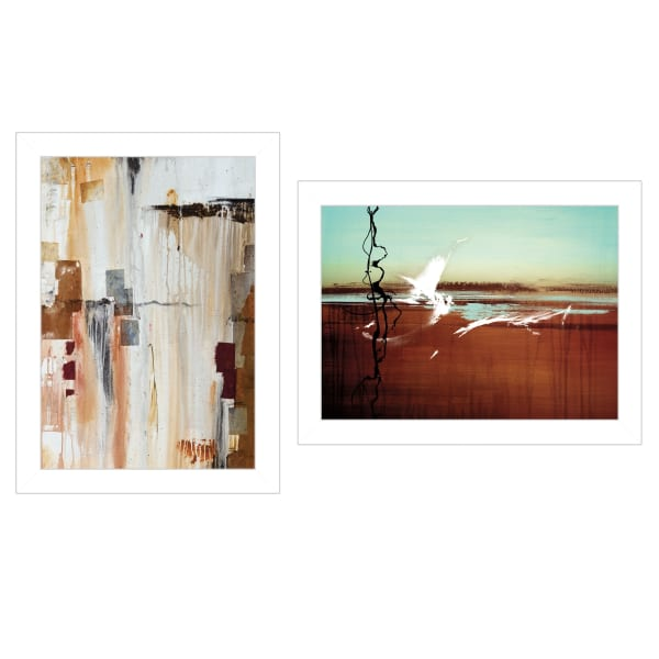 Abstract Flight 2 Piece Vignette by Cloverfield & Co White Frame
