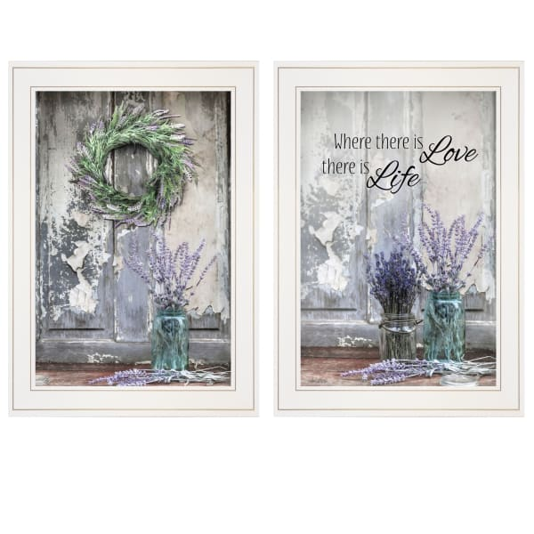 Where There is Love 2 Piece Vignette by Lori Deiter  White Frame