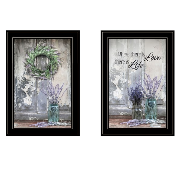 Where There is Love 2 Piece Vignette by Lori Deiter Black Frame