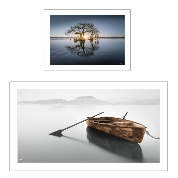 Tree Reflections 2-Piece Vignette by Moises Levy Framed Wall Art