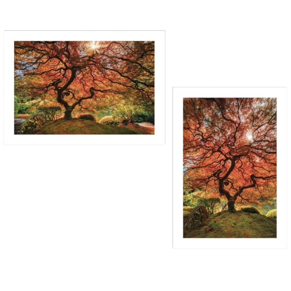 First Colors of Fall I 2-Piece Vignette by Moises Levy Framed Wall Art