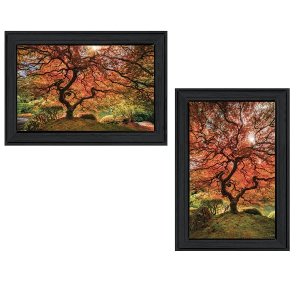 First Colors of Fall II 2-Piece Vignette by Moises Levy Framed Wall Art