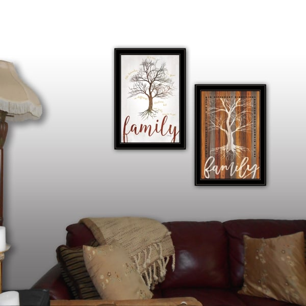 Family Tree Roots 2-Piece Vignette by Marla Rae Framed Wall Art