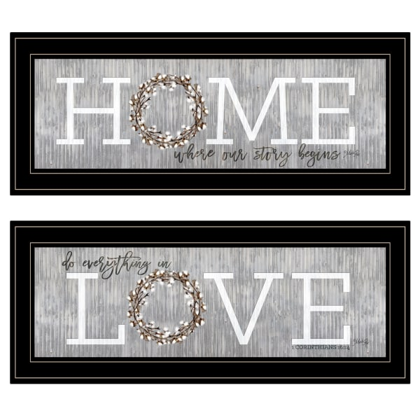 Where Our Story Begins 2-Piece Vignette by Marla Rae Framed Wall Art