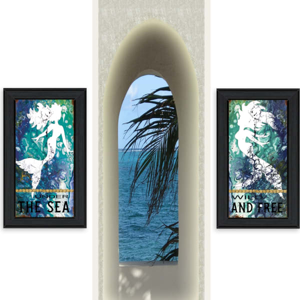 Under The Sea 2-Piece Vignette by Cindy Jacobs Framed Wall Art