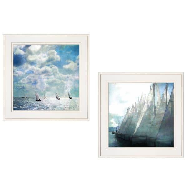 Sailboat Marina 2-Piece Vignette by Bluebird Barn Framed Wall Art
