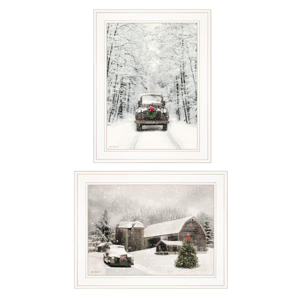 Antique Christmas 2-Piece Vignette by Lori Deiter Framed Wall Art