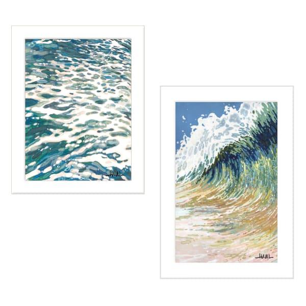Big Wave 2-Piece Vignette by Margaret Juul Framed Wall Art