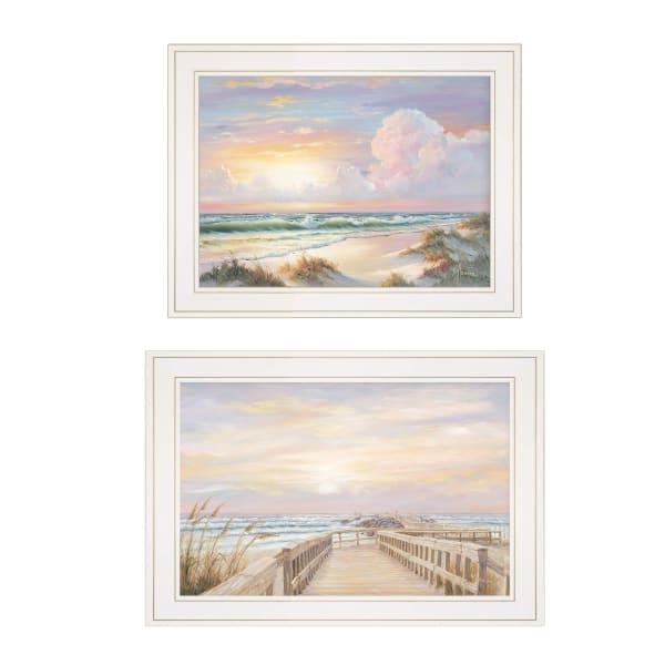 Sunrise-Sunset 2-Piece Vignette  by Georgia Janisse Framed Wall Art