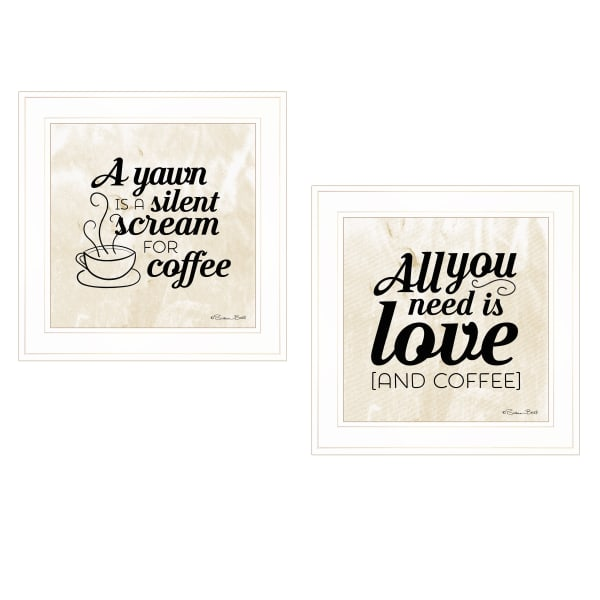 All You Need is Coffee 2-Piece Vignette by Susan Boyer Framed Wall Art