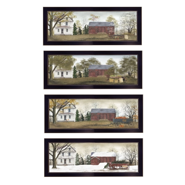 Season's Collection 4-Piece Vignette by Billy Jacobs Framed Wall Art