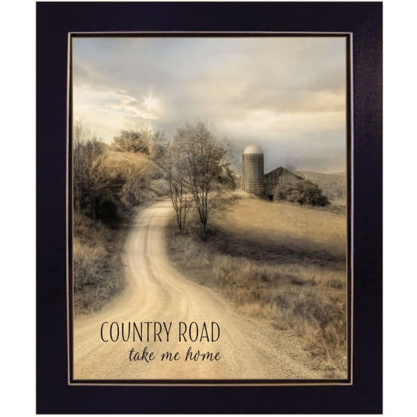 Country Road Take Me Home by Lori Deiter Framed Wall Art