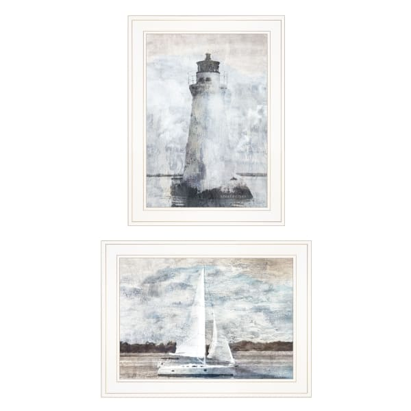 Lighthouse Sailboat By Bluebird Barn Framed Wall Art