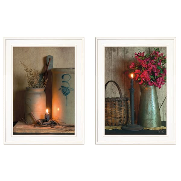Country Candlelight Collection By Susie Boyer Framed Wall Art