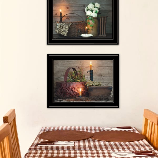 Baskets and Flowers By Susie Boyer Framed Wall Art