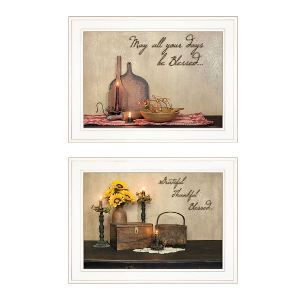 Twice Blessed Collection By Susie Boyer Framed Wall Art