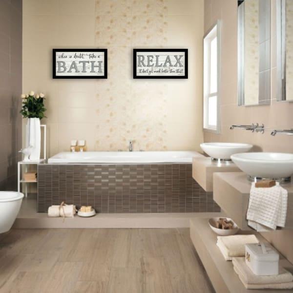 Bath Relax By Susie Boyer Framed Wall Art