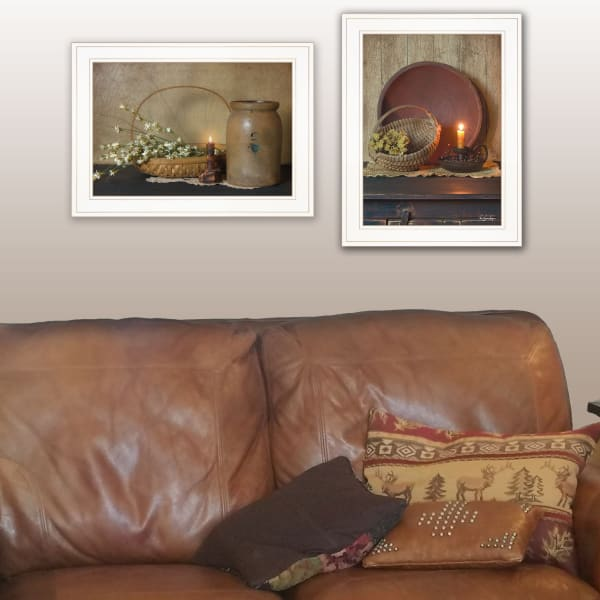 Candle Light & Flowers By Susie Boyer Framed Wall Art