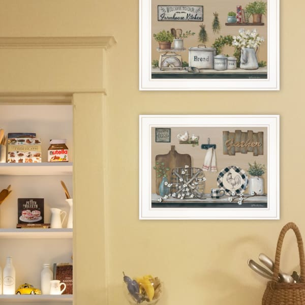 Farmhouse Kitchen By Pam Britton Framed Wall Art