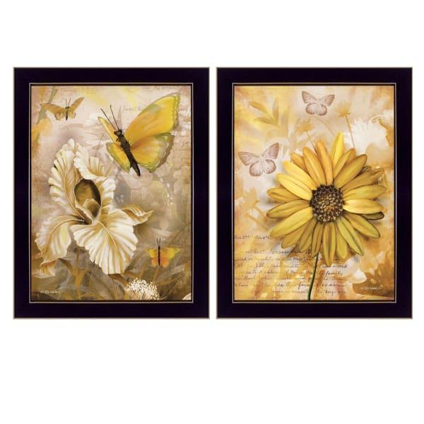 Flowers & Butterflies By Ed Wargo Framed Wall Art