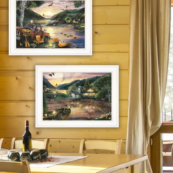 Lakefront Camping By Ed Wargo Framed Wall Art
