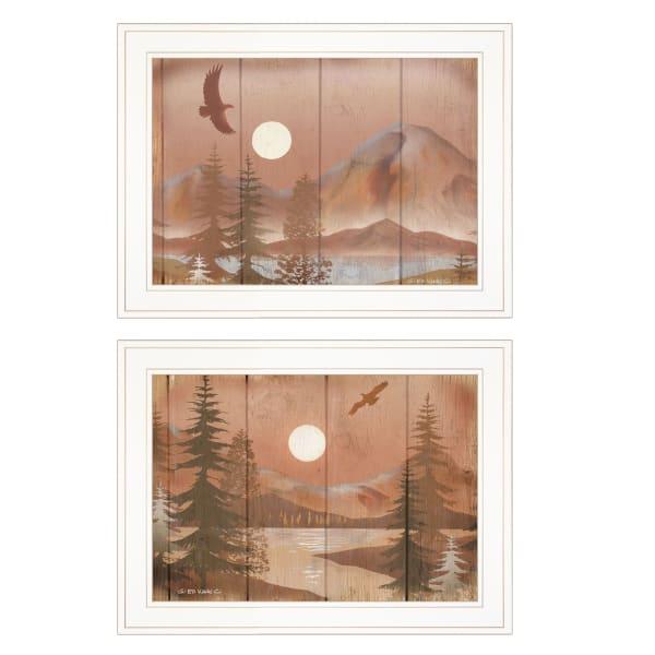Full Moon I & II By Ed Wargo Outdoor Framed Wall Art