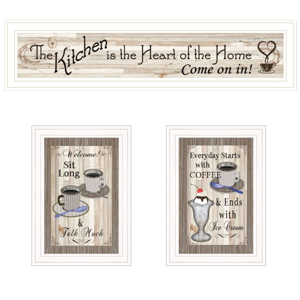 Kitchen-Come In Vignette 3-Piece Framed Wall Art
