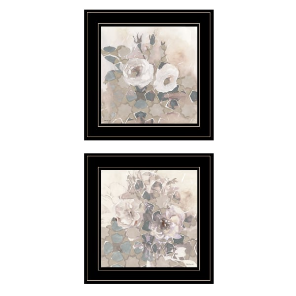Transitional Blooms By Stellar Design Studio Framed Wall Art