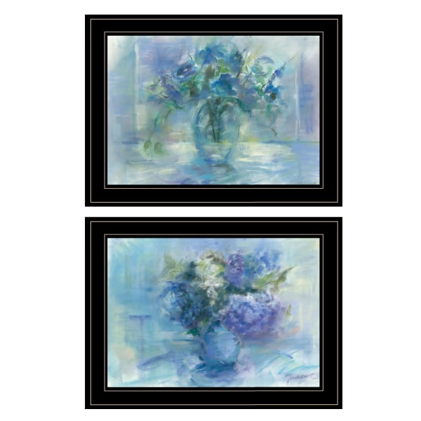 Susie's Blue Bouquet By Tracy Owen Framed Wall Art