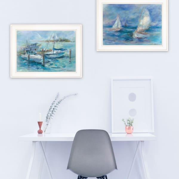 Dockside By Tracy Owen-Cullimore Framed Wall Art