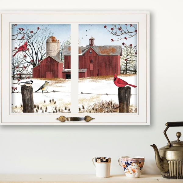 Winter Friends by Billy Jacobs Framed Wall Art