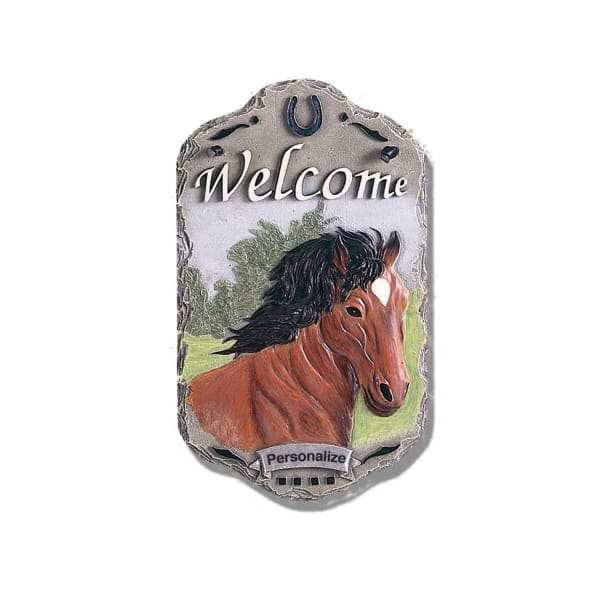 Welcome Sign Horse Porch Wall Decor