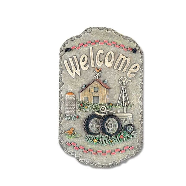 Welcome Sign Tractor Wall Decor