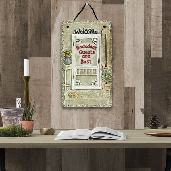 Welcome Sign Backdoor Guests Wall Decor