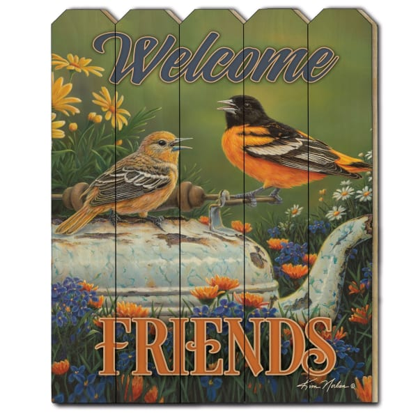 Welcome Friends by Kim Norlien Wall Decor