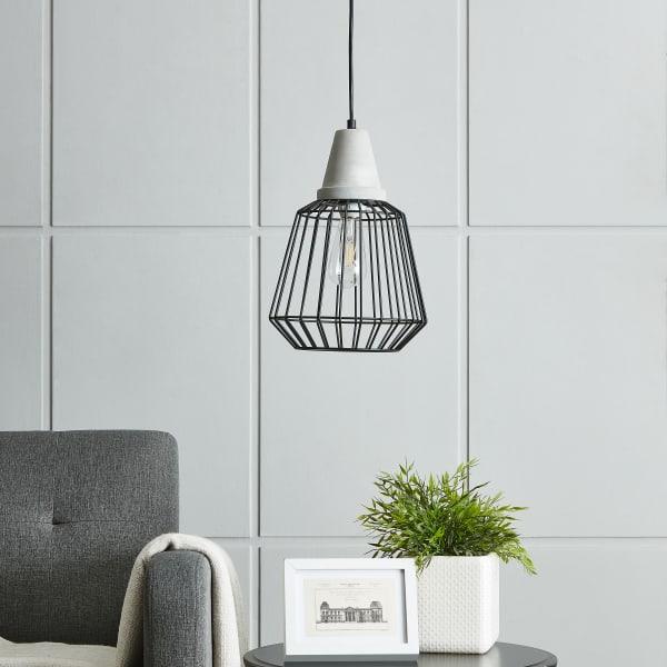 Lauren Black Cage Pendant Lamp