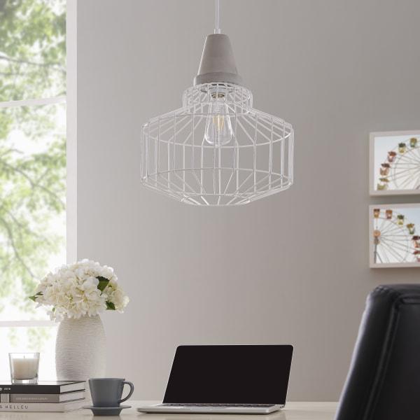 Lille White Cage Pendant Lamp