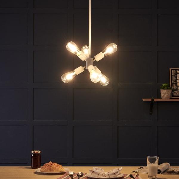 Rufus 6-light Pendant Lamp - White