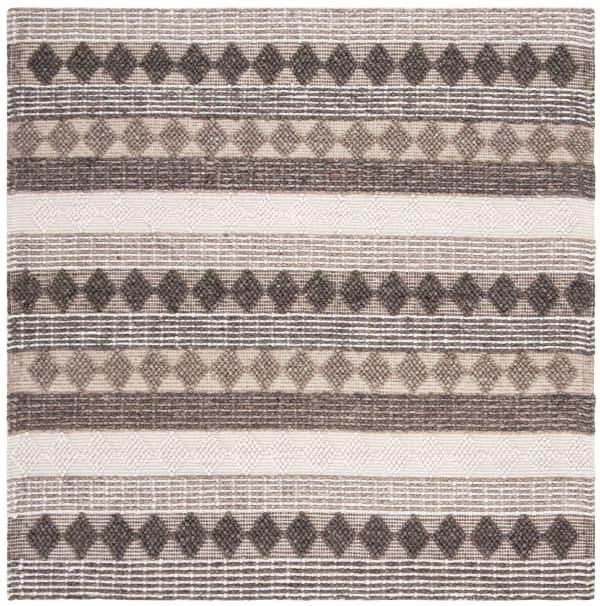 Chipley 6' X 6' 252 Gray Wool Rug
