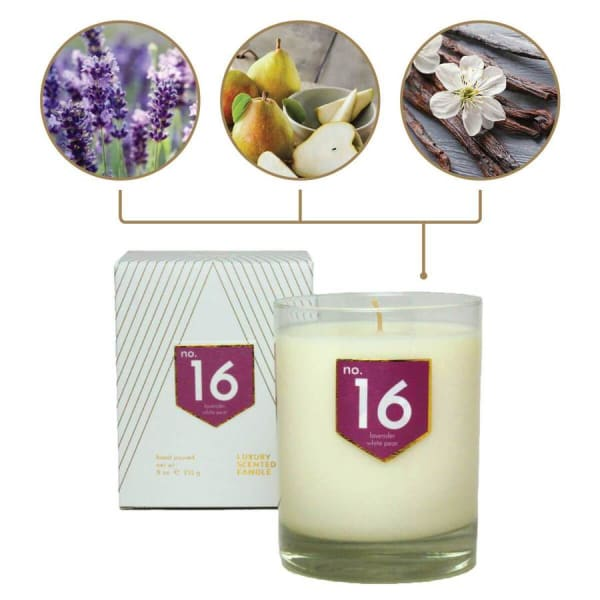 No. 16 Lavender Pear Scented Soy Candle