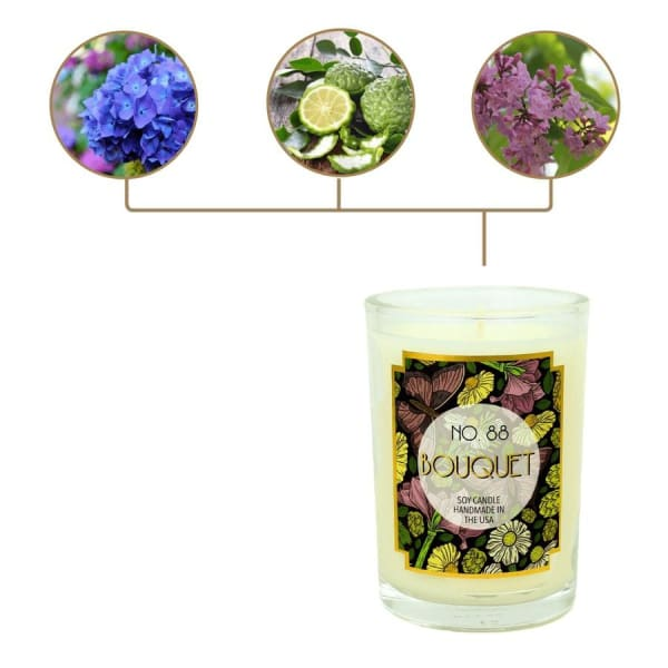 Bouquet Scented Soy Wax Candle