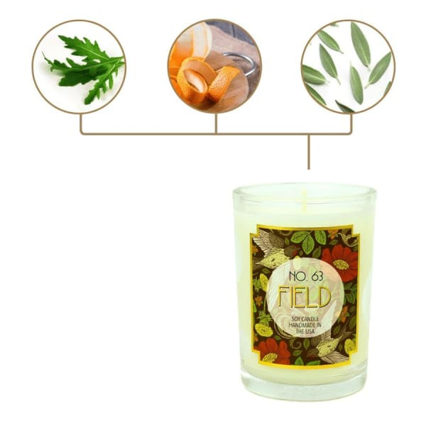 Field Scented Soy Wax Candle