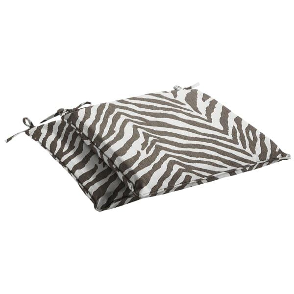 Sunbrella Namibia Grey Set of 2 Chair Pads