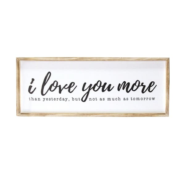 I Love You More Framed Wood Wall Decor