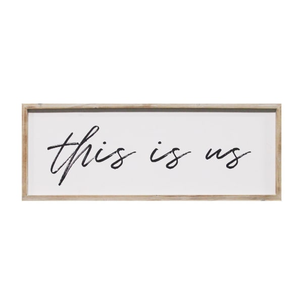 This Is Us Framed Wood Wall Decor