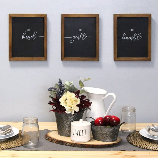 Set of 3 Be Kind Be Gentle Be Humble Wall Decor